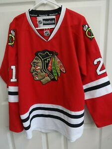 Reebok Chicago Blackhawks Mikita # 21 Stitched Hockey Jersey Men Size 50 Repro