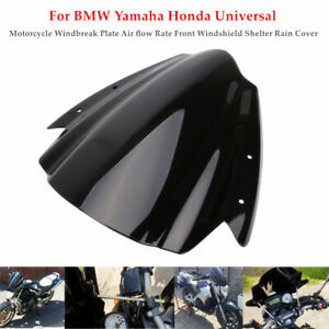 Motorcycle Windbreak Plate Air flow Rate Windshield Shelter Cover Bracket Kit