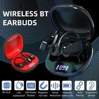 Wireless Bluetooth 5.0 TWS Headphones Earphones Sports Ear Hook Run Earbuds UK