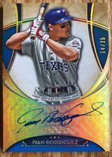 2017 Topps Five Star Ivan Rodriguez Texas Rangers Autograph /25