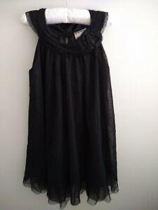 Oshkosh genuine kids girls black sleeveless Tulle dress size 5 EUC