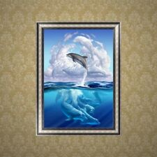 Diy Dolphin Animal 5D Diamond Embroidery Painting Rhinestone Cross Stitch Decor