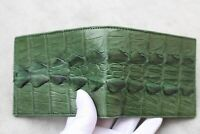 Genuine Alligator ,Crocodile Leather Skin MEN Bifold Wallet Handmade Green