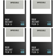 Impossible Black & White Film for Polaroid 600 type cameras (4516) 4 - Pack