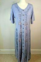 Vintage Boho Dress BNWT Floral Retro Hippie Little Buddha Dress Size M/L mauve