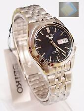 (Gift) + SNK357K1 SEIKO 5 Stainless Steel Band Automatic Men's Dark Blue Watch