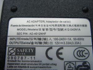 Power Supply Original Samsung 12V 3,33A XE303C12 Chromebook Ativ Smart PC XE500