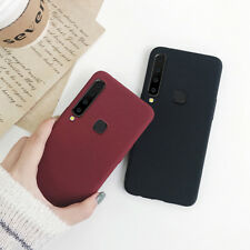 For Samsung Galaxy A9 A7 2018 A8 A6 Plus Sandstone Slim Silicone Soft Case Cover