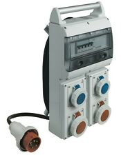 BTICINO CQD416/54 CENTRALINO DA CANTIERE ASC IP55 CON 2 PRESE INDUSTR DA 230VAC