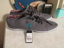 Fred Perry Kingston Twill tipped  Gray Shoes Sneakers size US 12
