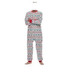 Men's Fairisle Microfleece One-Piece Pajamas - Medium - NWT