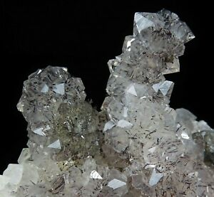 Goethite needles in QUARTZ stalactites * Amerzgane Cercle * Morocco
