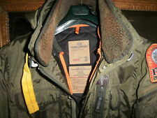 PARAJUMPERS PARKA  031848 DOWN JACKET OD GREEN FUR COLLAR RARE US/UK 42 size M