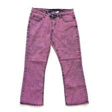 DG2 Diane Gilman Jeans Size 14 Petite Bootcut Midrise Acid Wash Stretch