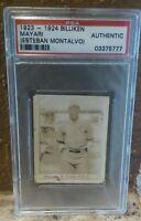 1923-24 Billiken Mayari (Esteban Montalvo) PSA A, Cuban BB HOF, Rookie, Only 1!