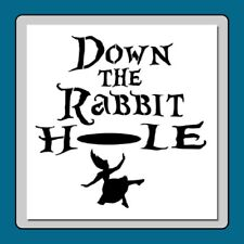 "7 X 7 Alice in Wonderland STENCIL ""Down the Rabbit Hole"" Alice Falling/Quote"