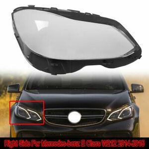 Right Headlight Lens Cover For 14-16 Mercedes-benz W212 E350 E400 E500 E550 AMG