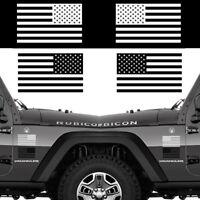 Set of 2 US American Flag for LEFT RIGHT Side Vinyl Sticker Decal WHITE or BLACK