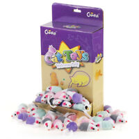 """36PCS 1.8"""" Rattle Cat Toy Mice Cute Double Color Small Mouse Kitten Play Chiwava"""