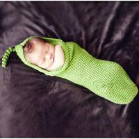 Handmade Crochet Newborn Baby Bean bag Pea Pod Stork Photo Prop 0-3 months