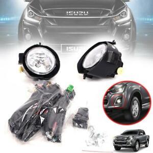 Spot Light Fog Lamp Pair Set Kit Fit For Isuzu Holden Dmax D-max 2016 17 18