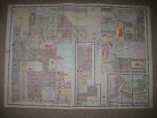 ANTIQUE 1924 TOLEDO LUCAS COUNTY OHIO MAP MIRACLE MILE DRIVE IN THEATER CINEMA N