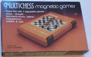 VINTAGE GAMES ~ MULTICHESS - MAGNETIC GAMES 7 in 1 - item No 201 - chess.draught