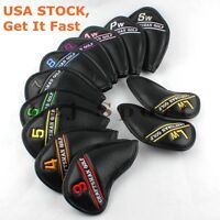 USA 12pcs Golf Iron Wedge Head covers For Taylormade Mizuno Cobra Callaway Ping