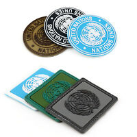 Un United Nations U.N. Badge Pvc Tactical Army Airsoft Hook Patch Circle TZ