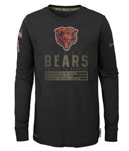 Chicago Bears Nike Youth Boys 2020 DRI-FIT Long Sleeve T-Shirt - Black