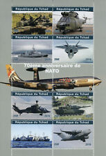 Chad 2019 CTO NATO Tanks Helicopters Aviation Ships 8v M/S Military & War Stamps