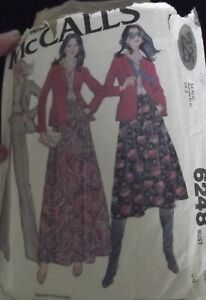 """Vintage Sewing Pattern 1976 Outfits  - Mcalls 6248 Bust 34"""""""