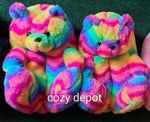 Teddy bear slippers #BIRTHDAY #TIK TOK #INSTAGRAM #OVERSIZED #COZY #PLUSH