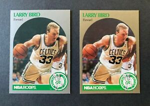 LARRY BIRD 1990-91 Hoops Card #39 & #5 - Silver and Gold Variations - #P102421A