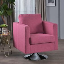 Alice Modern Light Magenta Fabric Swivel Chair