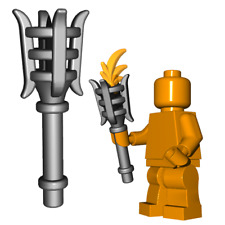 Custom TORCH with Flame for Lego Minifigures LOTR Knight King Castle
