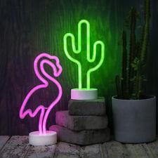Party LED Neon Lampe NEONLIGHT Lichtfigur mit TIMER Batterie Wandbild Neonlicht