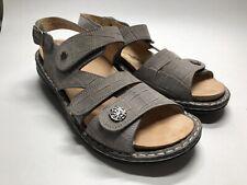 Finn Comfort Gomera Gray Leather Sandal Germany Strappy - Women's EU 37 US 6-6.5