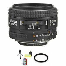Nikon Nikkor 50 mm F/1.4D AF Lens + UV Filter & Cleaning Kit