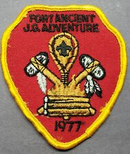VINTAGE 1977 BOY SCOUTS OF AMERICA FORT ANCIENT J.G. ADVENTURE PATCH