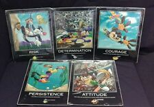 """1998 RARE Looney Tunes Warner Bros.16""""X20"""" Sports Motivational Posters Set of 5"""