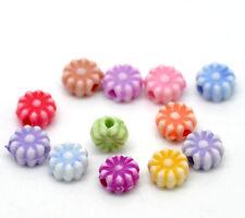 100 Mixte Acrylique Fleur Shaped Spacer Perles 6 mm BIJOUX ARTISANAT