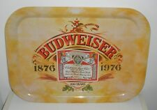 "Budweiser Beer 100 Years Tin Tray ""1876-1976"" (Measures 16 x 11-1/2 Inches)"