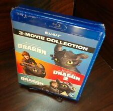 How to Train Your Dragon Trilogy (Blu-ray,Region Free) NEW-Free Shipping w/Track