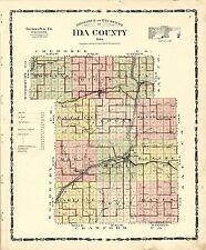 1906 atlas Ida County Iowa plat maps old Genealogy history plat Dvd P119