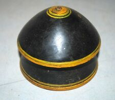 Antique Old India Wooden Hand Crafted Laquer Painted Vermilion Tikka Box
