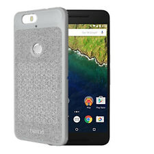 Official Premium Grey Soft TPU Flannel Phone Cover Case For Google Nexus 6P NEW