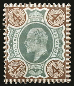 Great Britain Stamp 1902-11 4d King Edward VII Scott # 133 MINT OG H