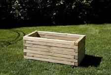 Fioriera in legno con QUADROTTI in PINO impreg. in autoclave da cm 120x45x40h