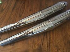 VINTAGE BMW R50/5-R75/5 NEW SET. BEAUTIFUL STAINLESS CIGAR SHAPE  MUFFLERS